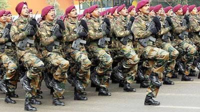 যুদ্ধের জন্য প্রস্তুত ভারতীয় সেনাবাহিনী