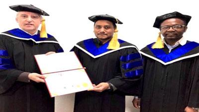 বিইউ পরিচালক ইঞ্জিঃ কাজী তাইফ সাদাতের ডক্টরেট ডিগ্রী অর্জন