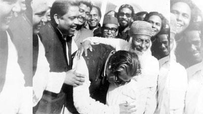 মওলানা ভাসানী সমীপে রাষ্ট্রপতি শেখ মুজিব