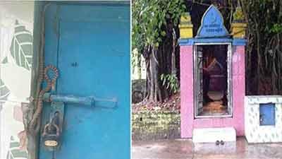 দরবার শরিফের দানবাক্স পাহারায় সাপ