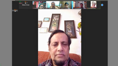 ভারতে অনুষ্ঠিত আন্তর্জাতিক ওয়েবিনারে বক্তব্য প্রদান ইবিএইউবি উপাচার্যের