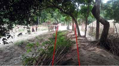 শিরিষকাঠ খালে অবশেষে রাস্তা হচ্ছে