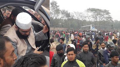 রাজবাড়ীতে একনজর আজহারীকে দেখতে হাজার হাজার মানুষের ভিড় (ভিডিও)
