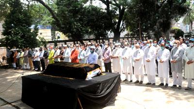 প্রেস ক্লাবে রাহাত খানের প্রথম জানাজা অনুষ্ঠিত