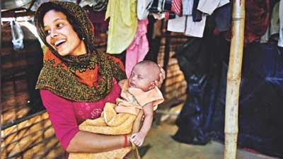 রোহিঙ্গা ক্যাম্পে বাড়ছে শিশু জন্মহার