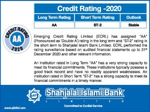 Shahjalal Islami Bank Credit Rating 2020