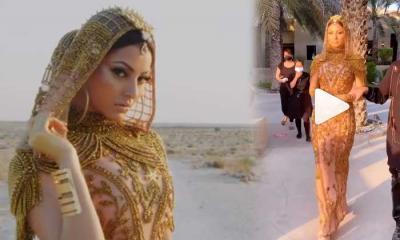 সোনা ও হিরার পোশাকে উর্বশীকে মুড়ে দিলেন আরব শেখেরা (ভিডিও)