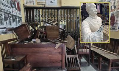 বঙ্গবন্ধুর ভাস্কর্য ভাঙচুর: কুষ্টিয়ায় বিএনপি কার্যালয়ে হামলা