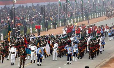 ভারতের প্রজাতন্ত্র দিবসের কুচকাওয়াজে বাংলাদেশের সশস্ত্র বাহিনী