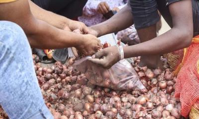 গুদামে পচছে পেঁয়াজ, বিক্রি হচ্ছে ১০ টাকা কেজিতে