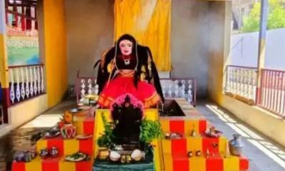 নির্মিত হলো করোনা দেবীর মন্দির, চলছে পূজা