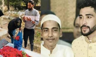 বিমানবন্দরে নেমেই বাবার কবর জিয়ারতে ছুটলেন ভারতীয় ক্রিকেটার