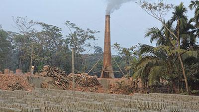 বসতি এলাকায় ইটভাটা: হুমকিতে জনস্বাস্থ্য