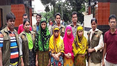 সিরাজগঞ্জে জেএমবি সন্দেহে ৪ নারী গ্রেফতার