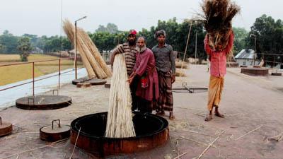 পাটকাঠির ছাইয়ে বৈদেশিকমুদ্রার বিপুল সম্ভাবনা