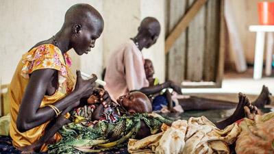 দক্ষিণ সুদানের দুই জেলায় দুর্ভিক্ষ ঘোষণা