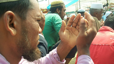 ঠাকুরগাঁওয়ে আখেরি মোনাজাতে শেষ হলো জেলা ইজতেমা