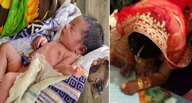 বিয়ের আসরে সন্তান জন্ম দিয়ে বিয়ের পিঁড়িতে নববধূর মৃত্যু (ভিডিও)