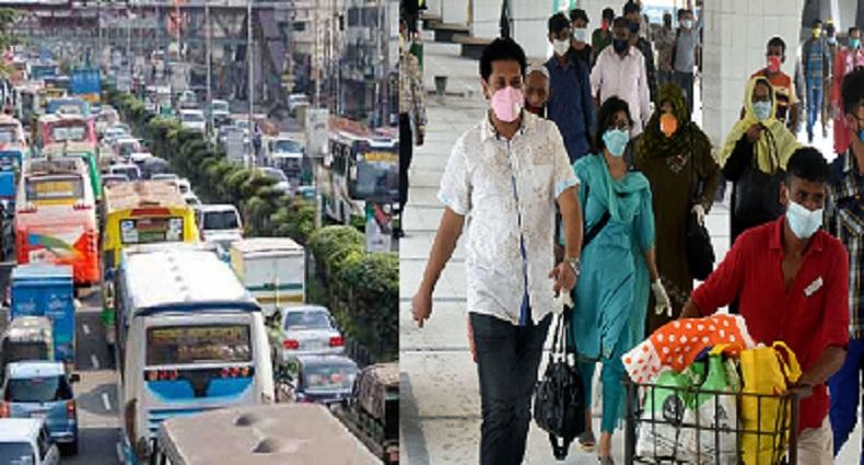 পুরনো চেহারায় রাজধানী, পাল্লা দিয়ে বাড়ছে করোনা