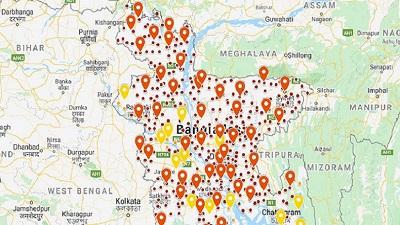 ৫০ জেলা ও ৪০০ উপজেলা লকডাউন, ১৩ জেলা আংশিক