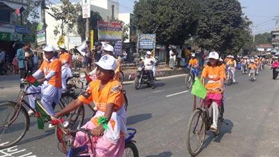 'নারীর প্রতি সংহিসতা রোধে ব্যতিক্রমী ব্যতিক্রমী  র্যালি'