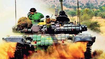 গোপনে মরুভূমিতে ভারতীয় সেনাবাহিনীর যুদ্ধ মহড়া