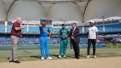 টস জিতে ভারতের বিপক্ষে ব্যাট করছে পাকিস্তান