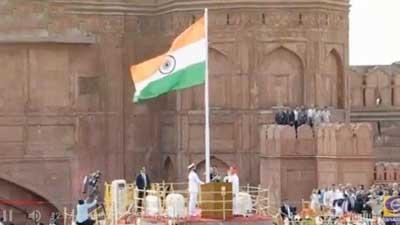 আজ ভারতে ৭২তম স্বাধীনতা দিবস উদযাপিত