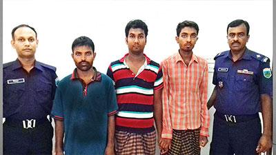 চাঁপাইনবাবগঞ্জে নব্য জেএমবির তিন সদস্য আটক