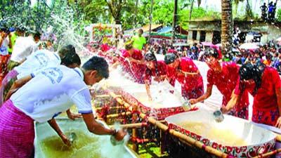 এবার হচ্ছে না মারমাদের ঐতিহ্যবাহী সাংগ্রাই জল উৎসব
