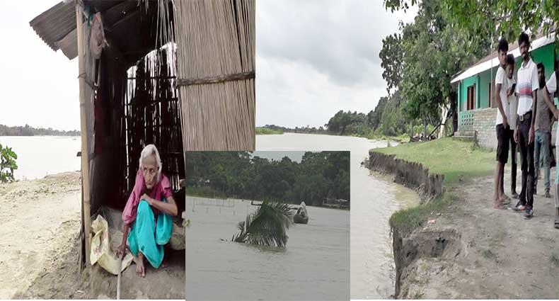 মধুমতি নদী ভাঙনে দিশেহারা নড়াইলের ইতনা ইউনিয়নের ৪ গ্রামের মানুষ