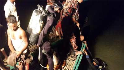 চলনবিলে নৌকাডুবি: নিখোঁজ পাঁচজনের লাশ উদ্ধার