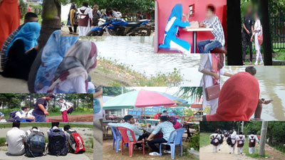 প্রেমিক যুগল ও বখাটেদের দখলে গোপালগঞ্জ লেক পার্ক!