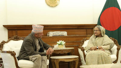 শেখ হাসিনার সঙ্গে সাক্ষাৎ করলেন নেপালের পররাষ্ট্রমন্ত্রী