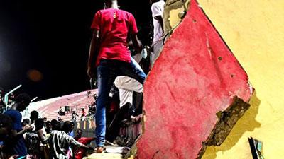সেনেগালে ফুটবল স্টেডিয়ামের মরামারি; দেয়াল ধস