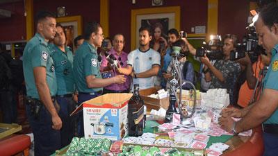 রাজধানীতে ৪ ক্লাবে মিললো মাদকসহ ক্যাসিনোর বিপুল সরঞ্জাম
