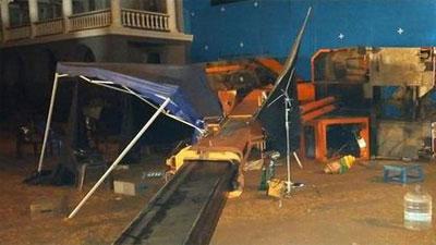 কমল হাসানের শ্যুটিং সেটে ক্রেন ধসে ৩ জনের মৃত্যু