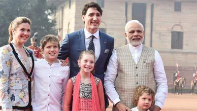 ভারত সফরের ৭ম দিনে ট্রুডো-মোদির দেখা