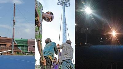 এশিয়া কাপ হকি: নতুন সাজে ভাসানী স্টেডিয়াম