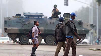 জিম্বাবুয়েতে সেনা অভ্যুত্থান ঘটেছে: আফ্রিকান ইউনিয়ন